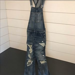 AE Distressed Overalls